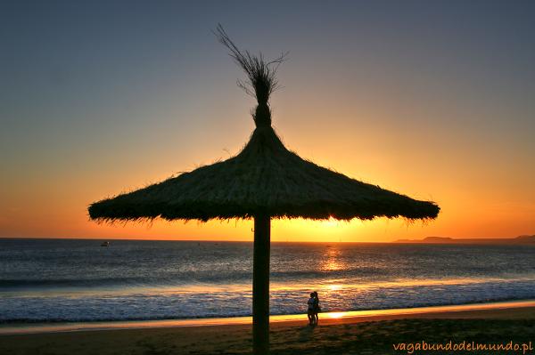 teneryfa zachód słońca na plaży