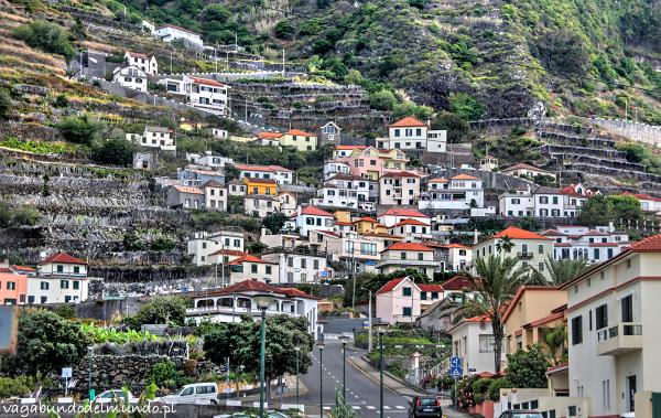 domki na wzgórzu w porto moniz madera